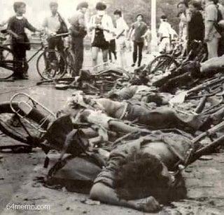 中共「六四」血腥屠殺畫面。(六四檔案)