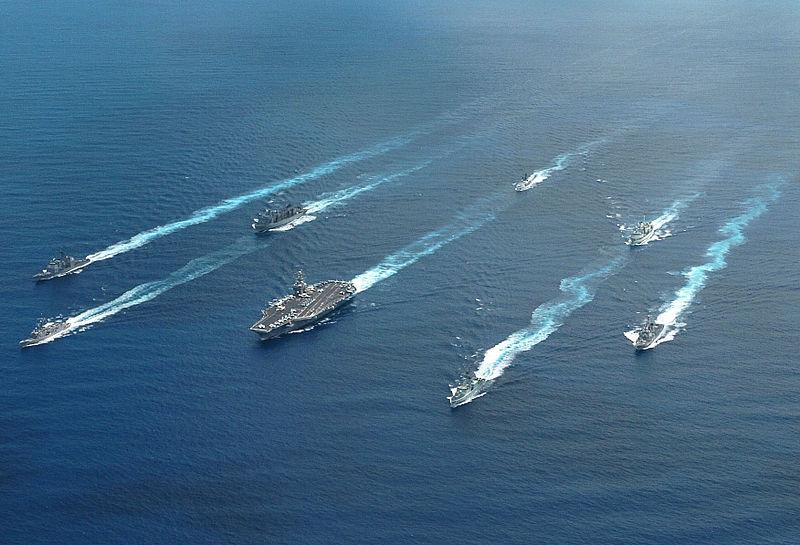 斯蒂文森號航母戰鬥群。(維基百科公有領域)
