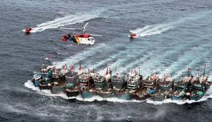 大陸40艘漁船疑越界 韓警射200發子彈示警