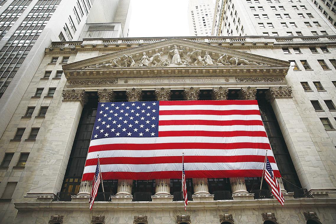 今年以來,中國大陸有16家公司股票赴美上市,這些企業股價遭遇滑鐵盧。圖為紐約證券交易所。(Getty Images)