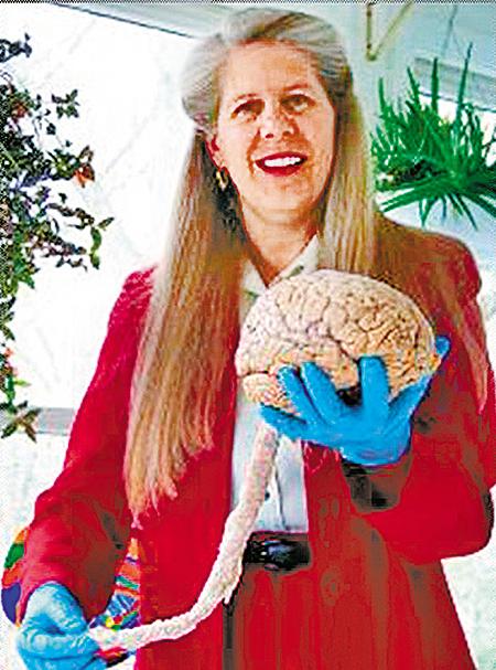 經歷一場中風病變,哈佛大學精神醫學部大腦研究者吉爾伯特泰勒博士對人腦有更寬廣的認識。(泰勒博士提供)