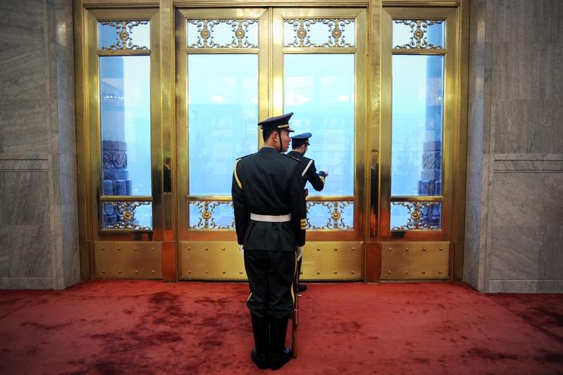 觀察中共十九大後的中共高層政治權力布局,相較於以往歷次黨代表大會有三個重大變化。(WANG ZHAO/POOL/AFP)