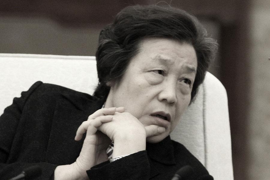 中共司法部部長吳愛英曾要求律師代理敏感案件和群體性事件時要「講政治」。(大紀元資料室)