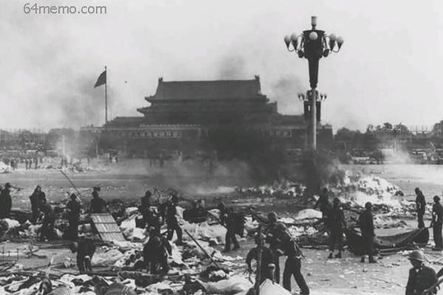 1989年,中共「六四」血腥屠殺畫面。(六四檔案)