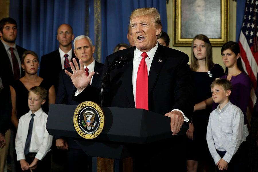 特朗普預測 廢除強制納保將終結奧巴馬健保
