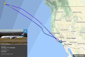 全日空航班半途驚見機上多一人 折返洛杉磯
