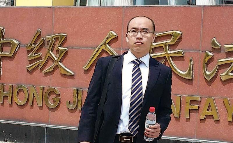 被當局打壓的山東律師馮延強。(馮延強 via RFA)
