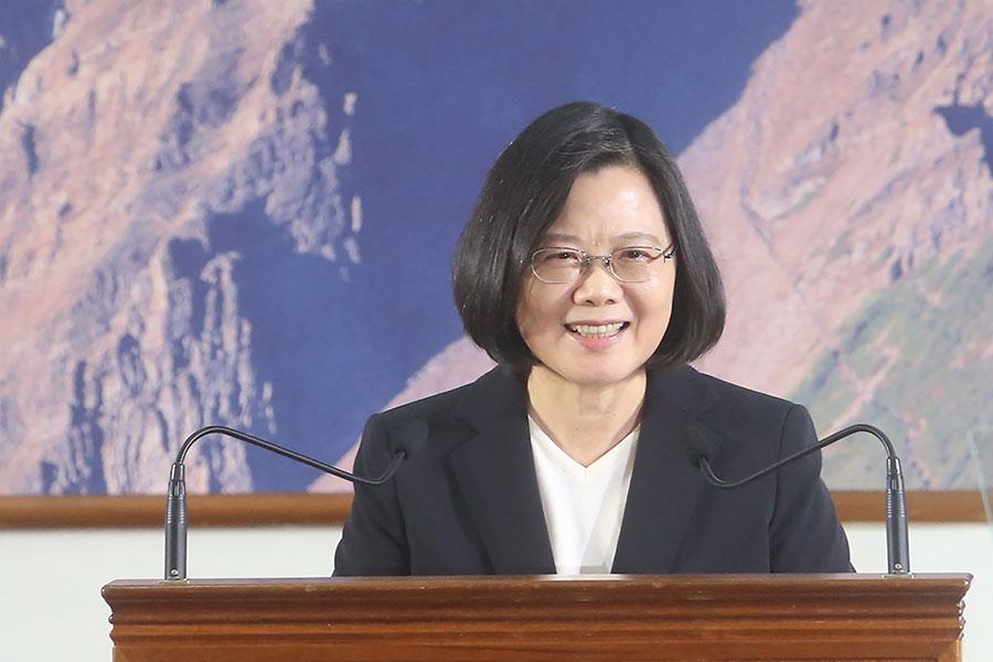 總統蔡英文12月29日在中科院舉辦年終記者會。(中央社)