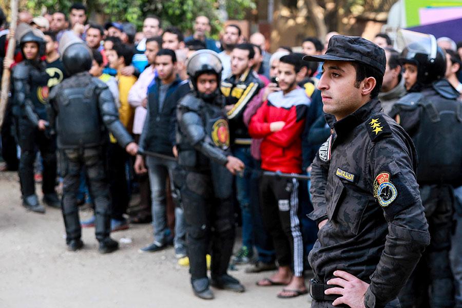 埃及當局表示,兩名武裝份子周五(12月29日)襲擊了埃及首都的馬里・米納(Mari Mina)教堂,造成至少九人死亡。(SAMER ABDULLAH/AFP/Getty Images)