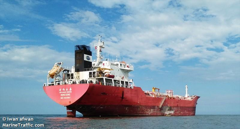 南韓當局扣押一艘疑似向北韓運油的巴拿馬油輪,如果得到證實,這將成為繼香港「方向永嘉」 (Lighthouse Winmore)號貨船之後,向北韓轉移物資的第二例。圖為香港「方向永嘉」號。(Iwan Afwan/MarineTraffic)