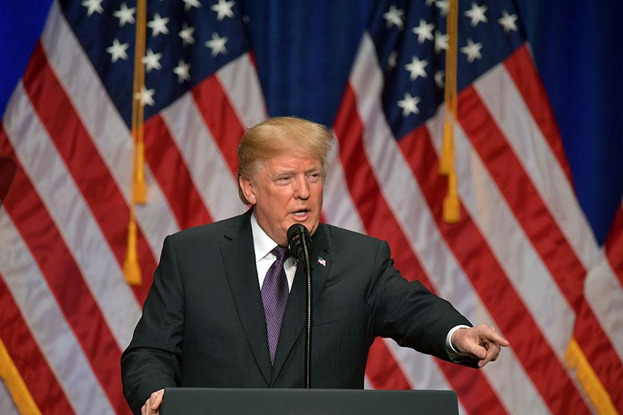 美國總統特朗普18年前即已預知北韓核武威脅,並提出警告要儘早解決。(MANDEL NGAN/AFP/Getty Images)