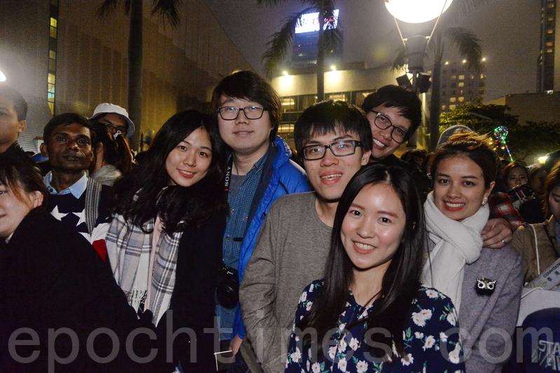 台灣遊客黎小姐一行四人。(宋碧龍/大紀元)