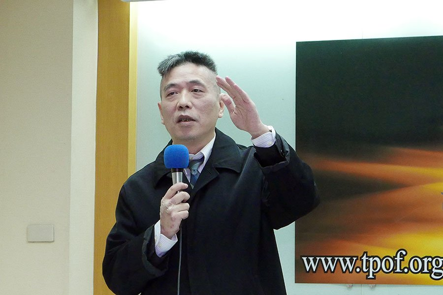 淡江大學整合戰略與科技中心執行長蘇紫雲表示,中共軍機繞台的目的明確,就是要打「心理戰」,但反而促成台灣的社會共識。(郭曜榮/大紀元)