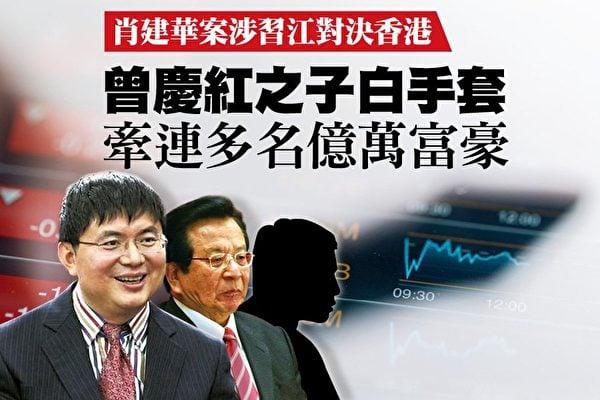 金融大鱷肖建華(左)。(大紀元合成圖)
