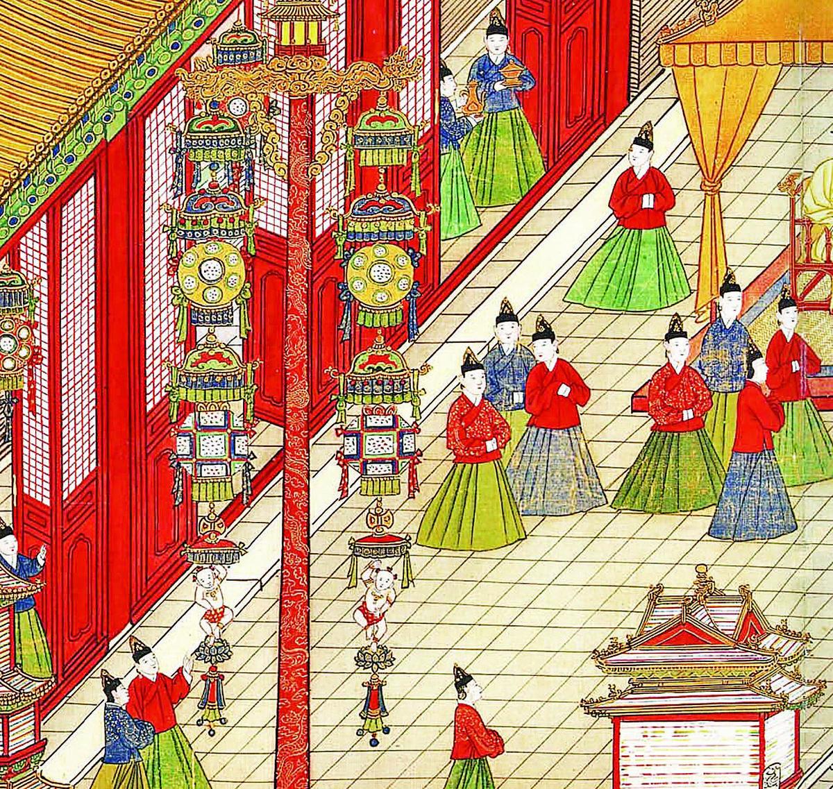 明憲宗元宵行樂圖(維基百科)