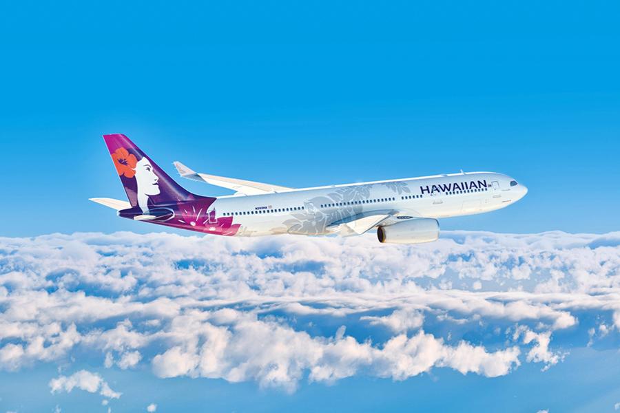 圖為夏威夷航空客機示意圖。(hawaiianairlines.com)