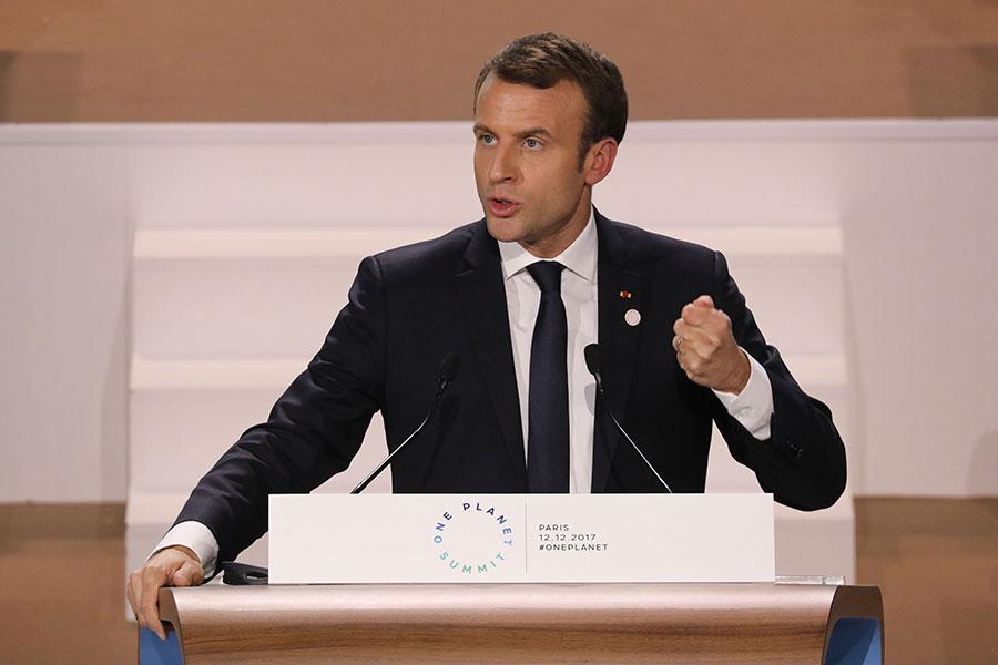 法國總統馬克龍(Emmanuel Macron)。(LUDOVIC MARIN/AFP/Getty Images)891105396