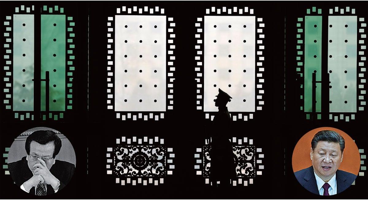 左小圖:曾慶紅是江澤民集團的二號人物,其影響力和權力遠在江派要員薄熙來、周永康、徐才厚、郭伯雄等人之上。右小圖:習近平上台5年多來與江澤民集團展開的激烈政治博弈,在很大程度上,也可以說是和曾慶紅之間實力的較量。(Getty Images)