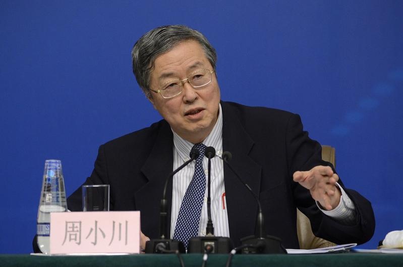周小川在新年賀詞中有3句話值得關注。(WANG ZHAO/AFP)