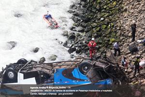 秘魯巴士墜入「魔鬼之彎」 36人遇難