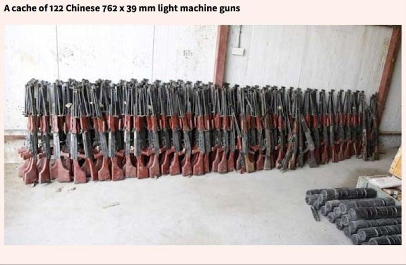 調查報告特別提到,伊拉克部隊在一次搜索中發現122支中國81式7.62毫米口徑輕機槍。(圖片取自「衝突裝備研究所」)