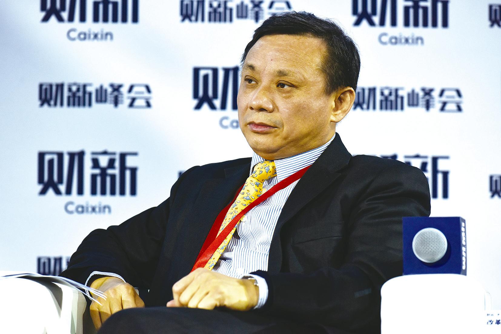 中誠信集團創始人、亞布力陽光度假村董事長毛振華在2016年的財新峰會上。(大紀元資料室)