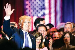特朗普橫掃五州 自稱「預定提名人」