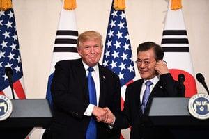 特朗普暗示與北韓對話 南韓立即派使團訪朝