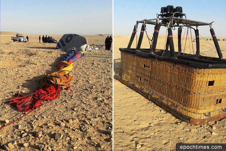 埃及再傳熱氣球墜毀意外 強風肇禍1死7傷