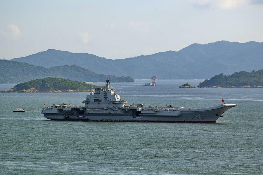 圖為遼寧號航母。(資料圖片)