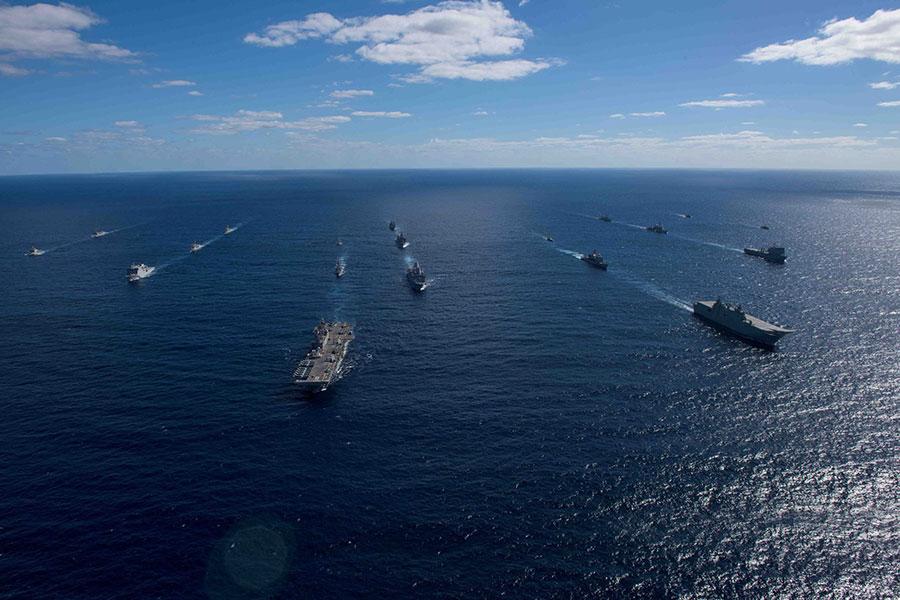 兩棲攻擊艦理查德號(Bonhomme Richard)艦隊。(理查德號Facebook)
