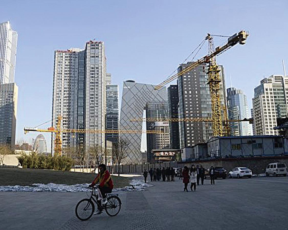 大陸房企今年4,000億債務到期。(WANG ZHAO/AFP)