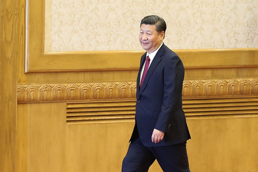 習近平上台後,胡耀邦家族在多種場合發表挺習言論。(Lintao Zhang/Getty Images)