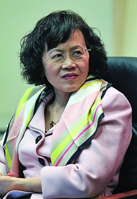 被稱為「中國最危險的女人」的胡舒立。(Getty Images)