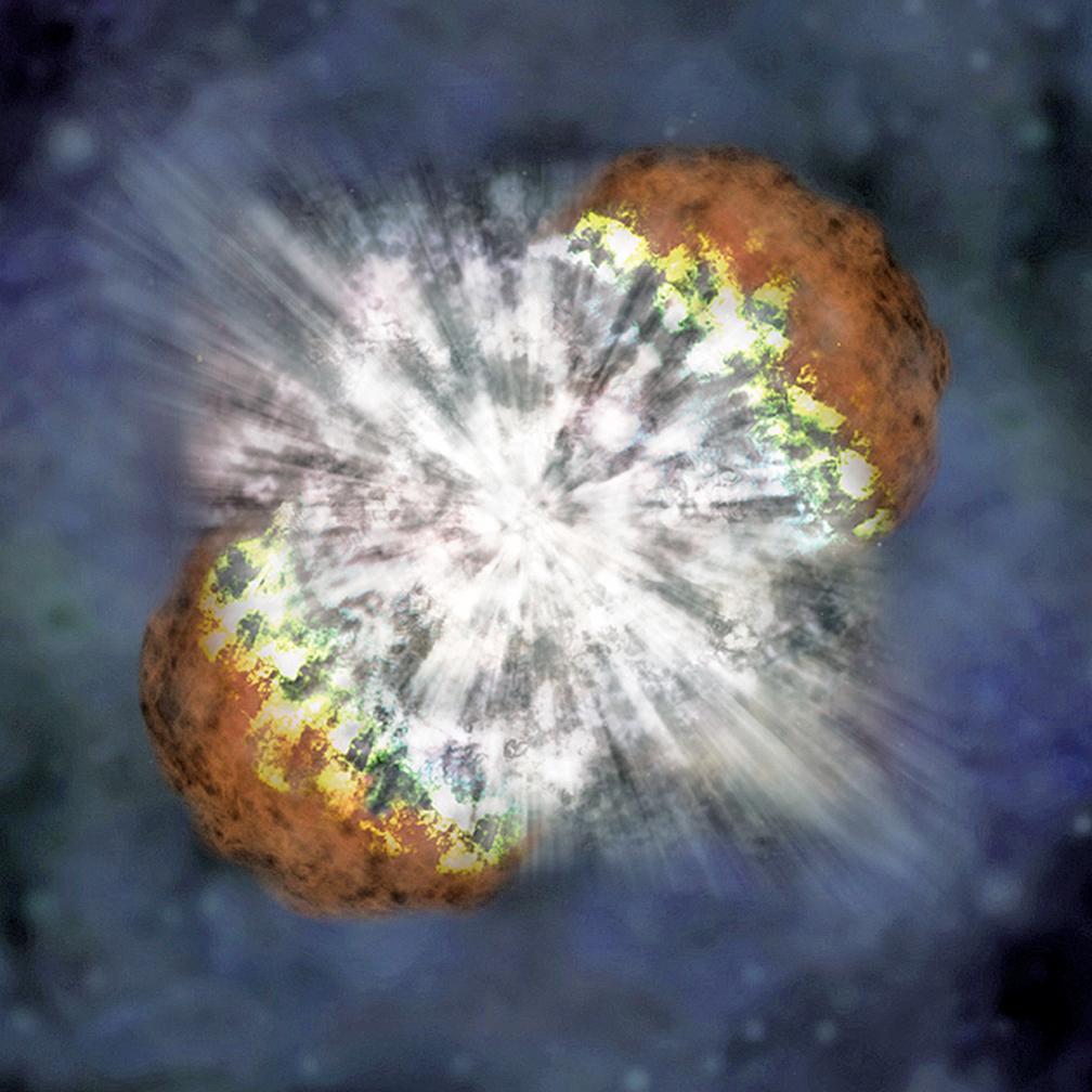 超新星爆發示意圖。(NASA)