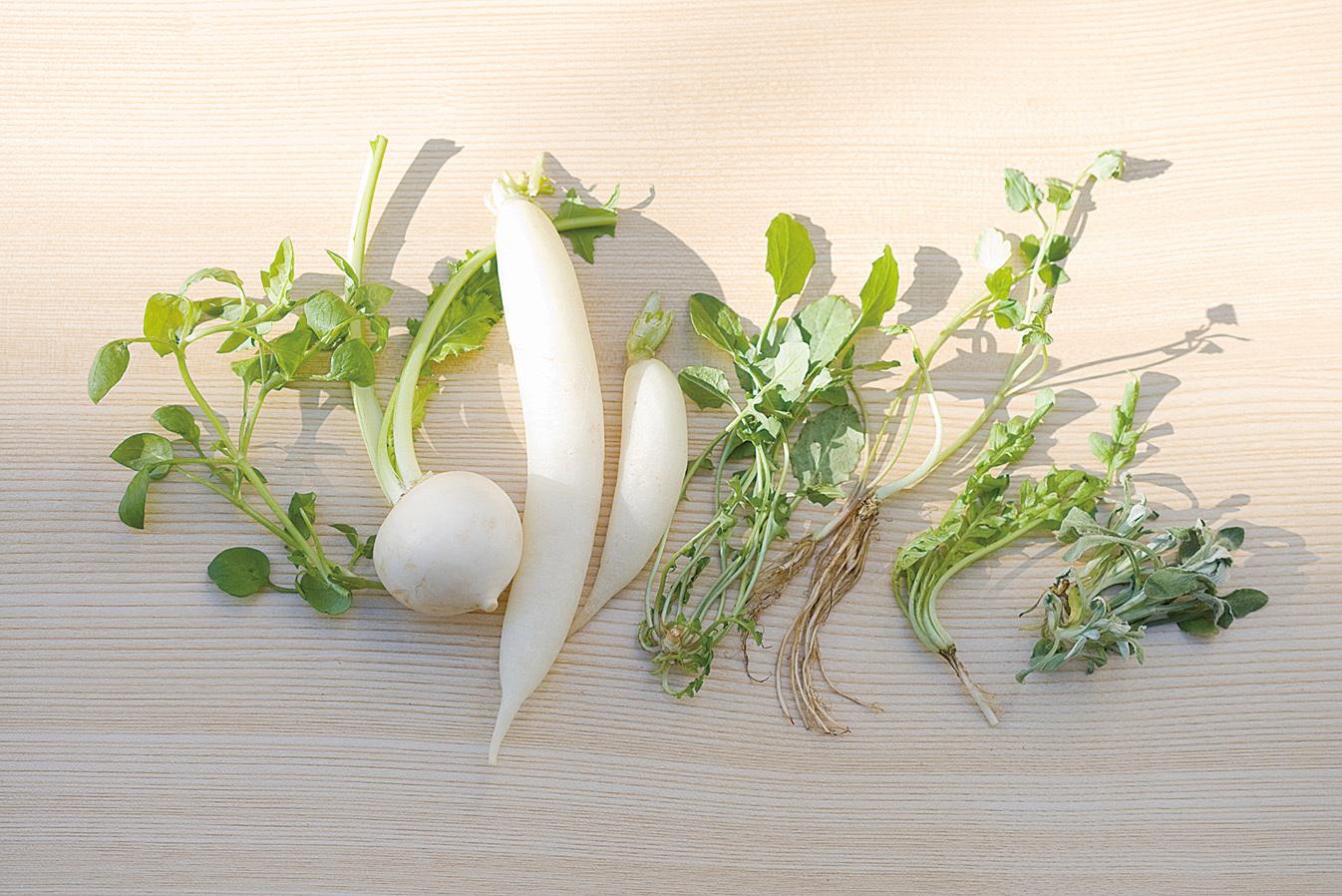 七草即為七種蔬菜。(iStock.com)