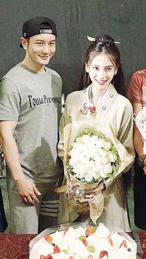 黃曉明、Angelababy結婚兩年多,感情超好,是演藝界的模範夫妻。(網絡圖片)