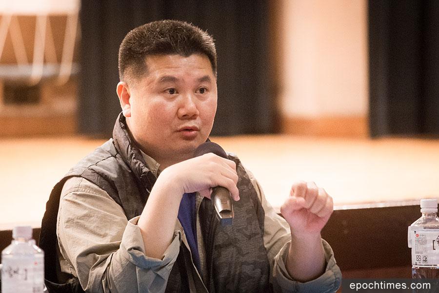 導演李惠仁9日指出,中共這次畫了一條更深的紅線,黑手伸得更長。(陳柏州/大紀元)
