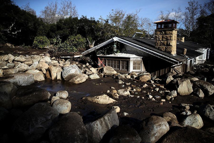 加州泥石流17死43失蹤 男子挖泥4英尺救嬰兒