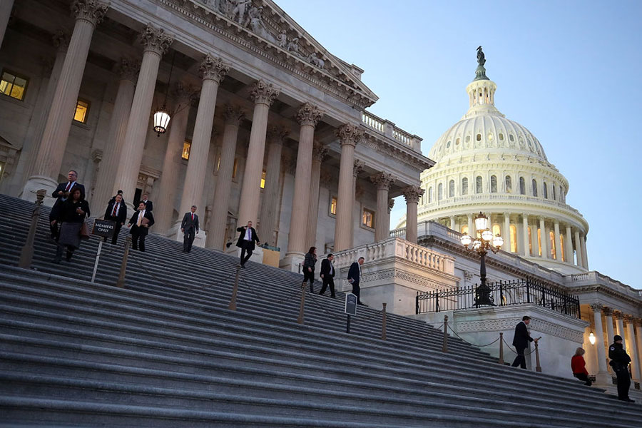 1月9日,美國眾議院無異議通過具有法律約束力的《台灣旅行法》。(Getty Images)
