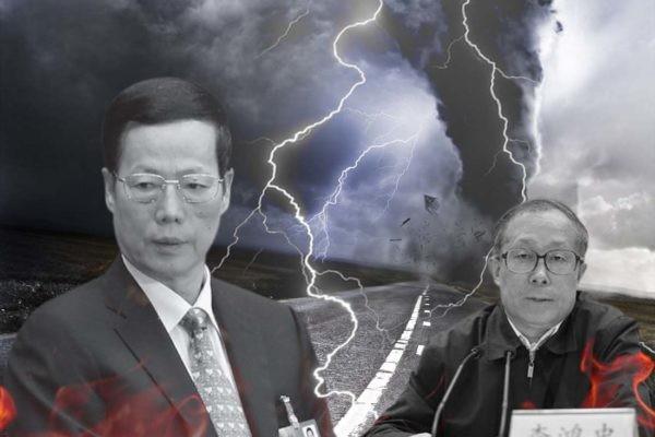 天津濱海新區GDP爆跌3,348億元,雖說是2016年的事,但面子上最難看的還不是李鴻忠的前任黃興國,而是當年靠濱海新區「刷政績」的張高麗。(大紀元合成圖)