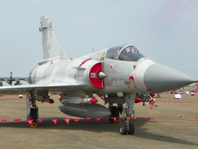 法國售台灣空軍的幻象2000戰機。(鄒莉/大紀元)