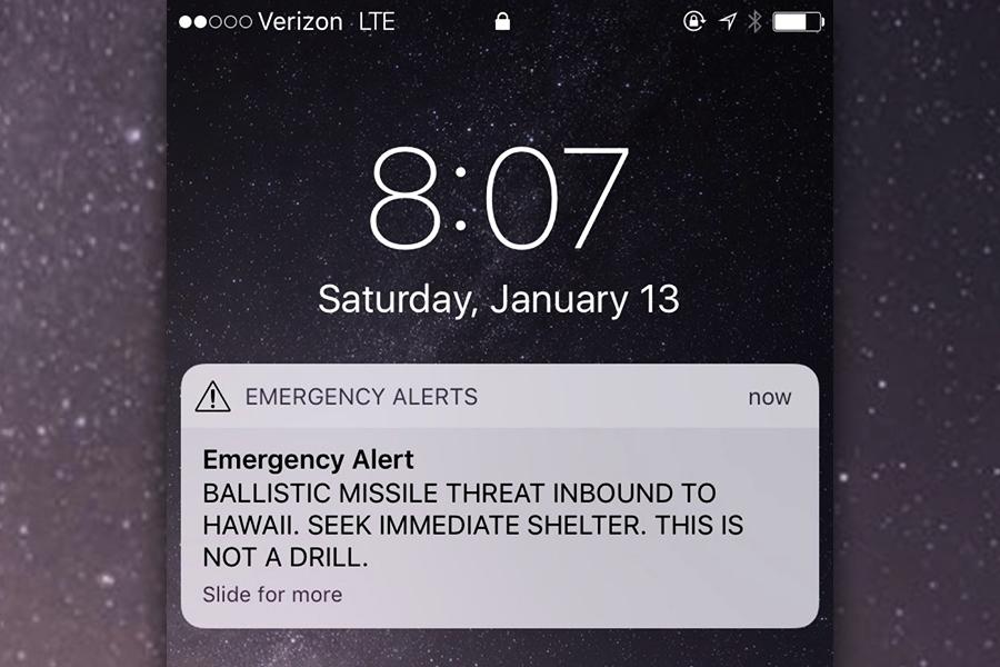 誤發導彈逼近夏威夷信息 加國夫婦虛驚一場