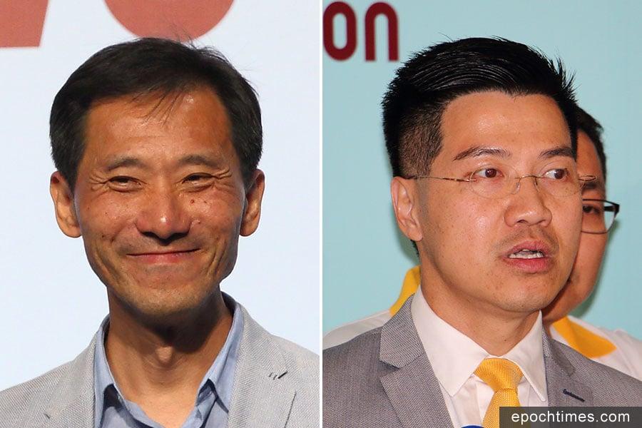 姚松炎(左)及范國威,雙雙在泛民初選中勝出,二人將分別在九龍西及新界東選區參與立法會補選。(蔡雯文、潘在殊/大紀元合成)
