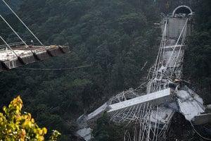 哥倫比亞斜拉橋斷裂 工人墜深谷10死10失蹤