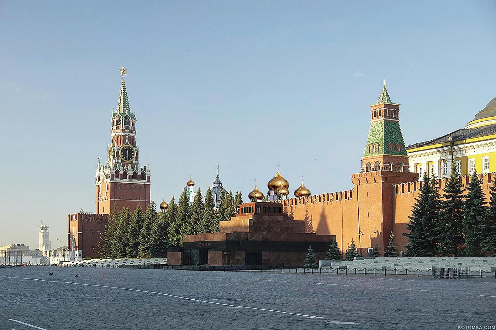 俄羅斯首都莫斯科市克里姆林宮城牆,很像北京的宮牆。(Quistnix/維基百科)