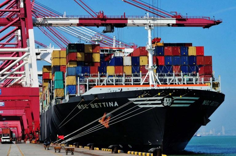 外媒報道說,中、美之間潛在的貿易衝突可能會在本周爆發,多項貿易文件送達白宮。(STR/AFP/Getty Images)