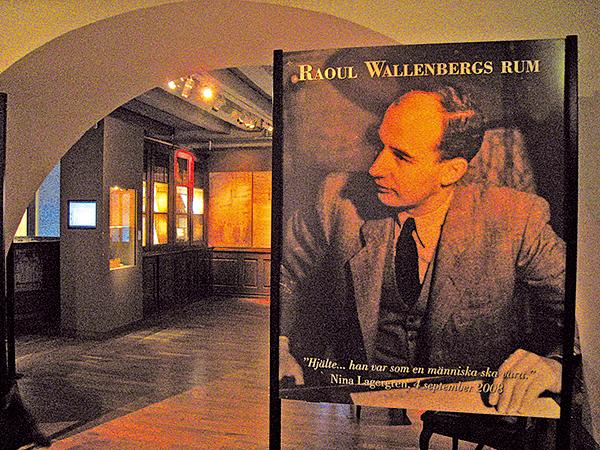 瑞典軍事博物館的二樓專設了瓦倫堡紀念館。(攝影/石芳)