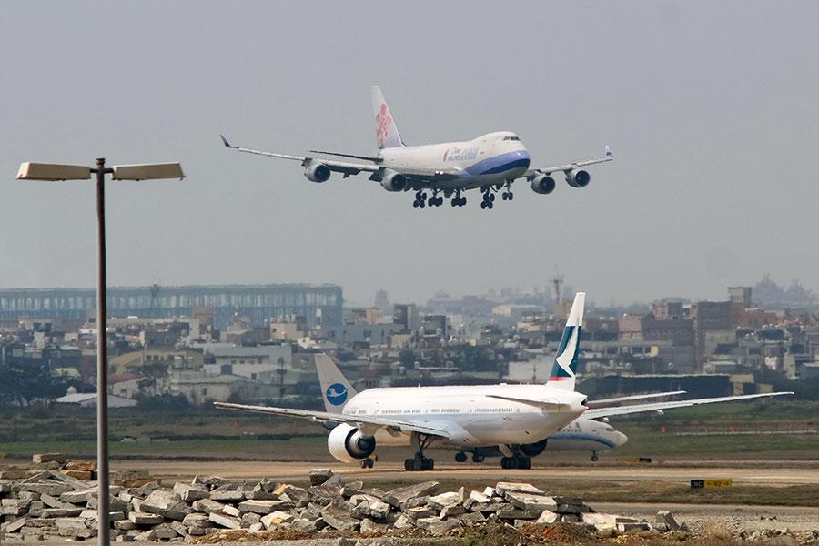 圖為台灣桃園國際機場。(SAM YEH/AFP/Getty Images)