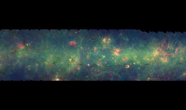 世界最大型銀河系圖片(局部)。(NASA/JPL-Caltech/Univ. of Wisconsin )
